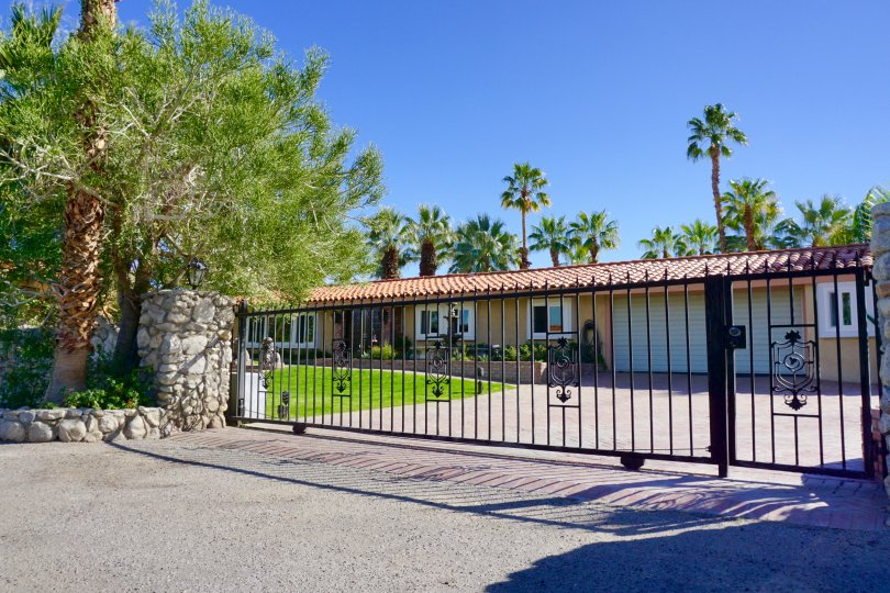 A spanish style gated residence at the Tennis Club in Palm Springs