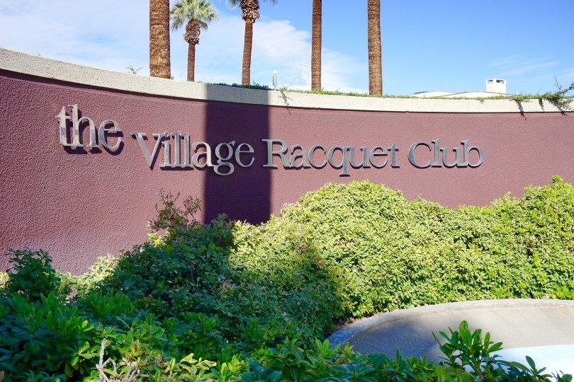Village Racquet Club Community Marquee