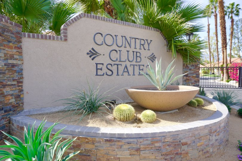Country Club Estates Community Marquee