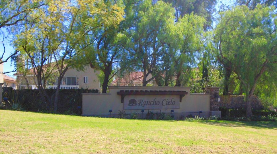 Rancho Cielo Community Marquee