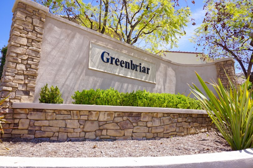 This is the Greenbriar Neighborhood Sign