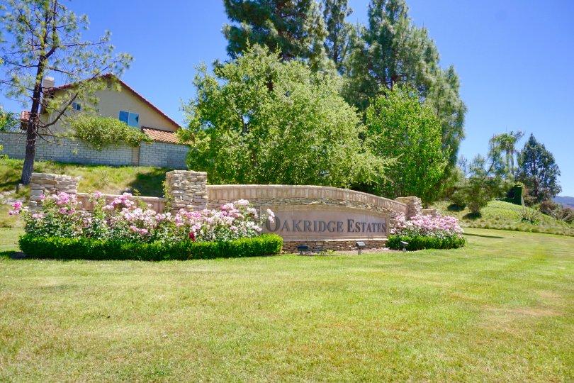 This is Oakridge Estates Sign
