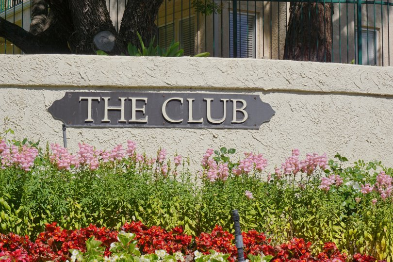 The Club Community Sign in Wood Ranch Neighborhood
