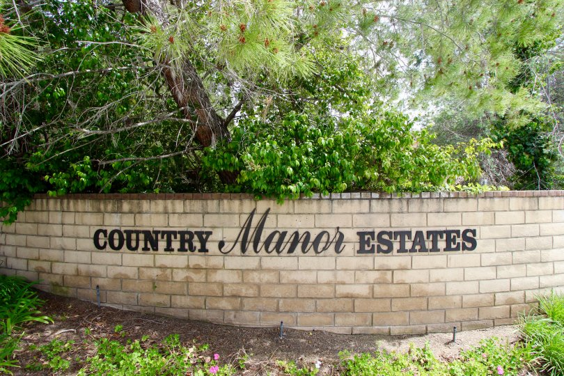 Country Manor Estates Community Marquee in Temecula Ca