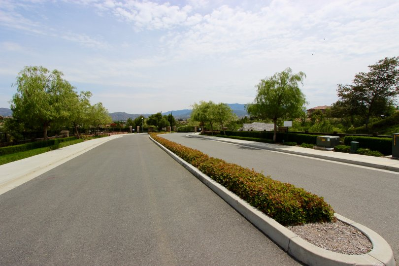 The entrance to The Reserve at Crowne Hill in Temecula Ca
