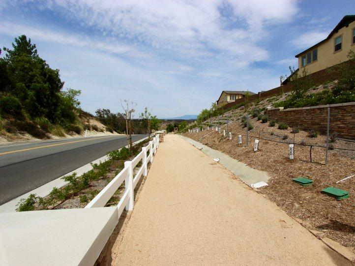 A walking path adjacent to The Vineyard by Van Daele community