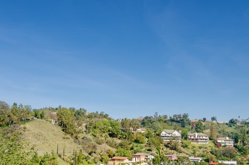 Beautiful views from Bel Air in Los Angeles