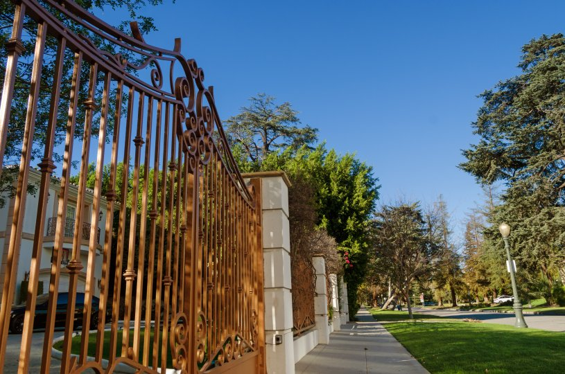 A private gated residence within the Hancock Park neighborhood of Los Angeles Ca