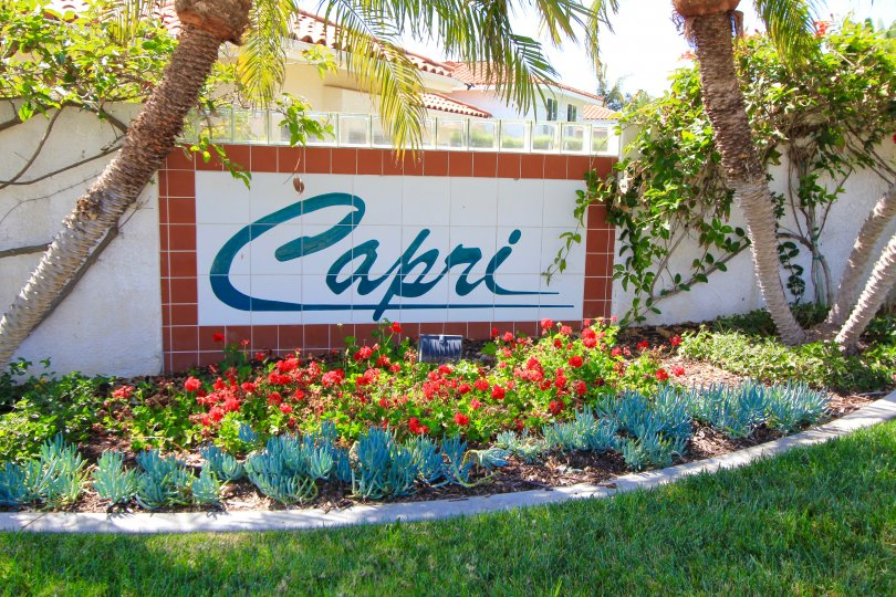 Beautiful Capri Neighborhood sign on ceramic tiles
