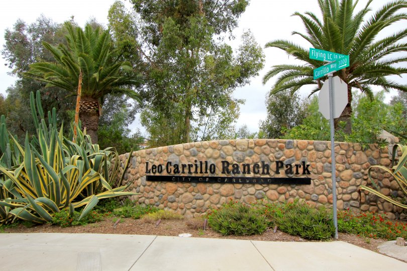 Leo Carrillo Ranch Park Sign in Carlsbad California