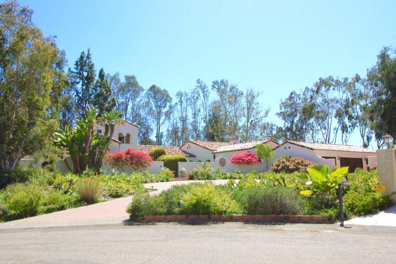 An entrance to luxurious estate in Rancho Del Mar Casa