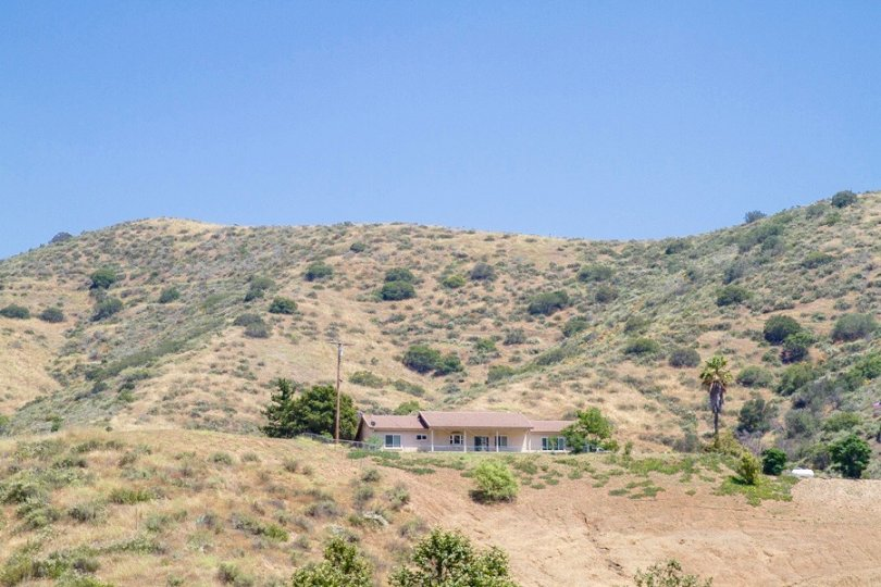 Home on the hill in Harbison Canyon enjoy fair panoramic views