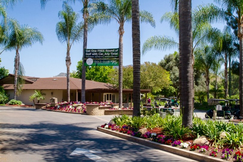 Golf Club central building in Singing Hills Neighborhood