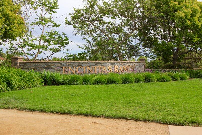Encinitas Ranch Sign in Encinitas California