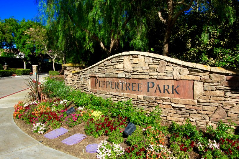A Peppertree Park Sign