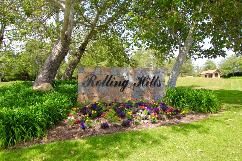 This is Rolling Hills Neighborhood sign