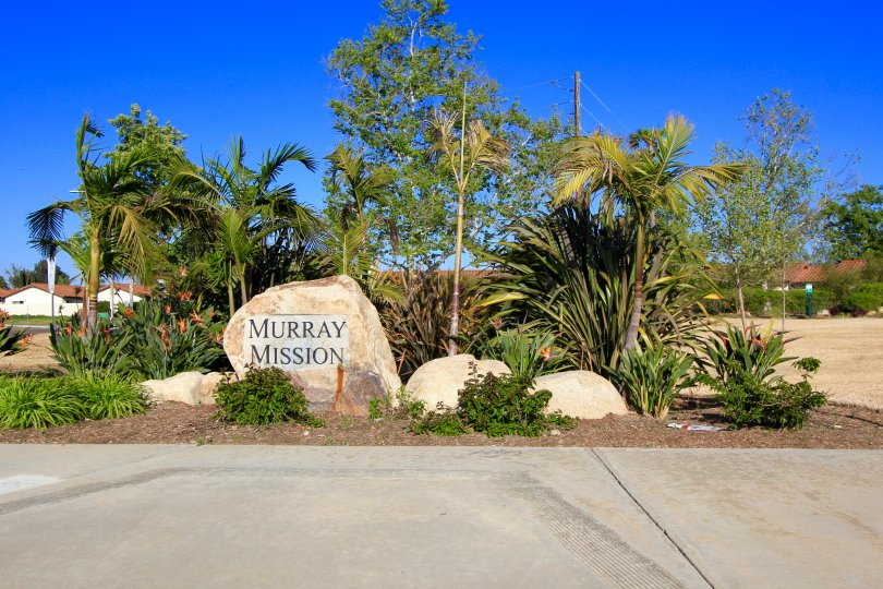 This is Murry Mission Community sign welcoming residents and visitors.