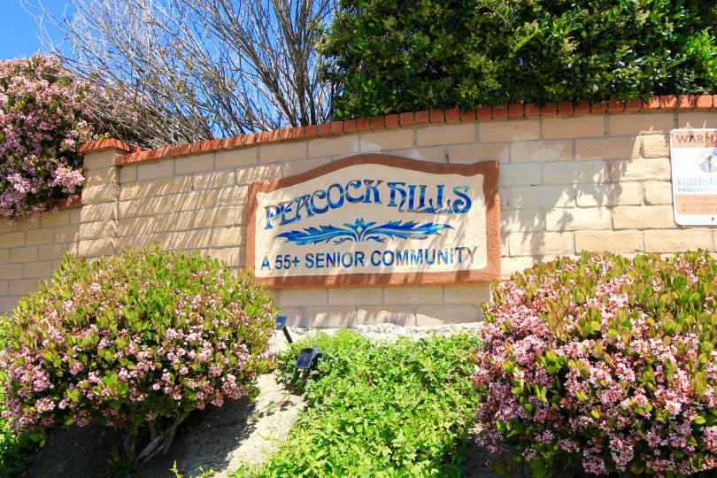 This is Peacock Hills 55+ Senior community Sign