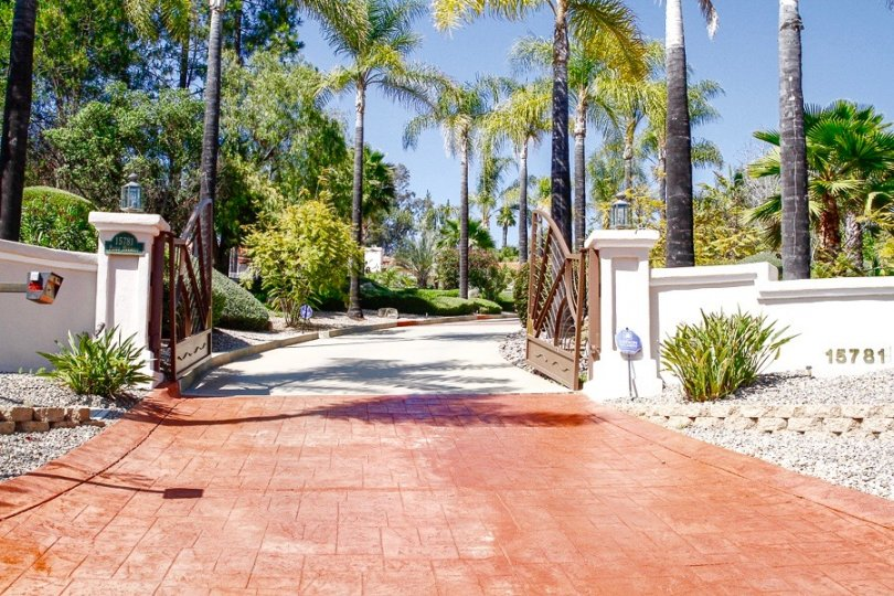 Gated entrance to private luxury residence in Green Valley Highlands