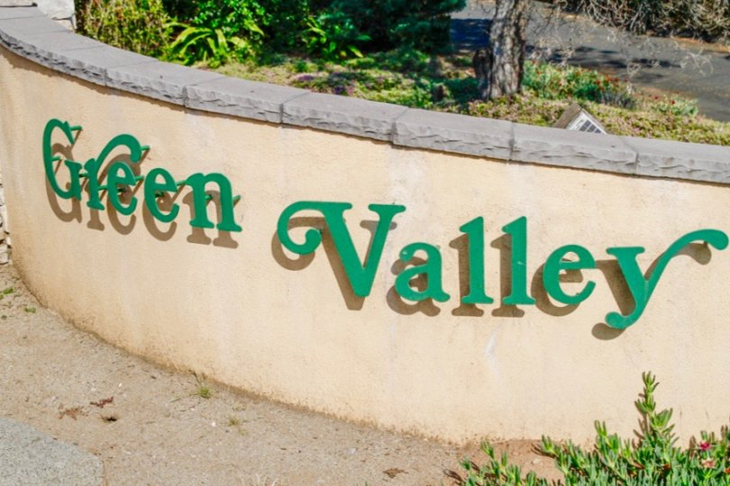 Green Valley Community Sign in Poway California