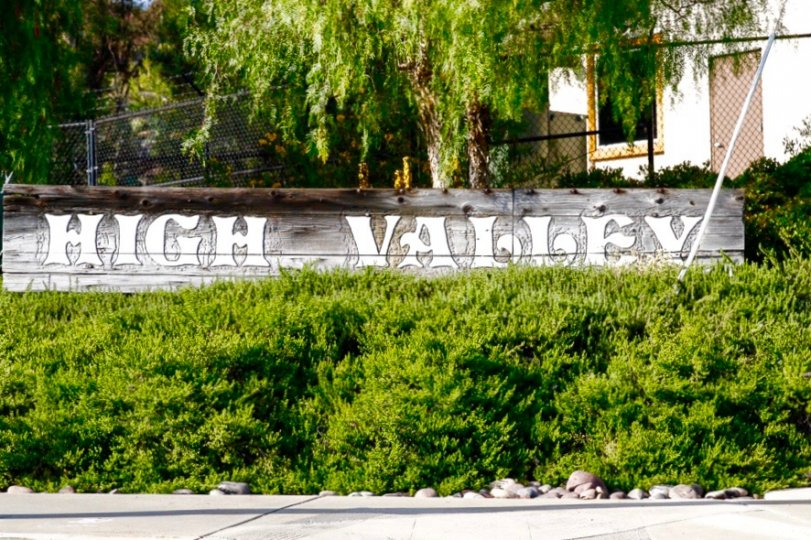Community Sign of High Valley in Poway California