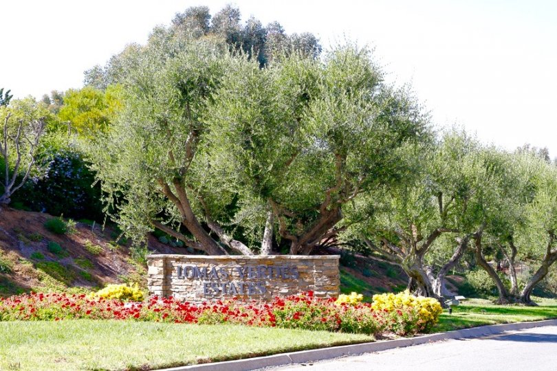 This is Lomas Verdes Estates Sign in Poway California