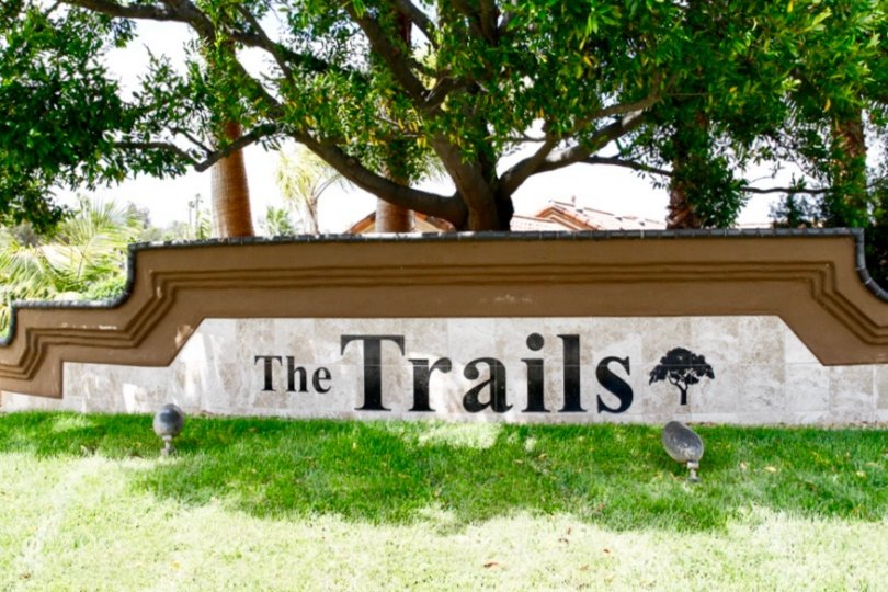 The Trails Community Sign in Rancho Bernardo California