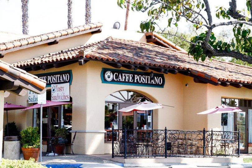 Café Positano in Del Rayo Estates Community