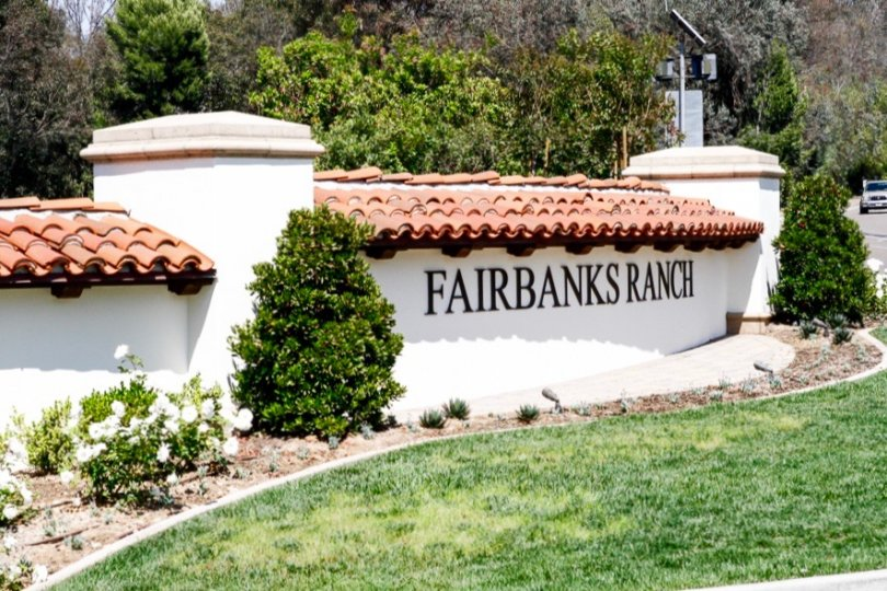 Fairbanks Ranch Community Sign in San Diego California