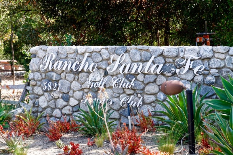 Rancho Santa Fe Golf Club sign in The Covenant Neighborhood