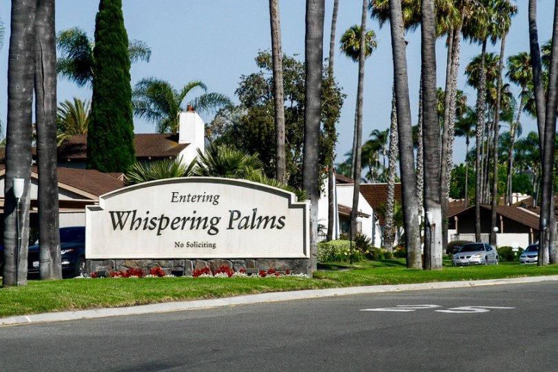 Whispering Palms Sign in San Diego California