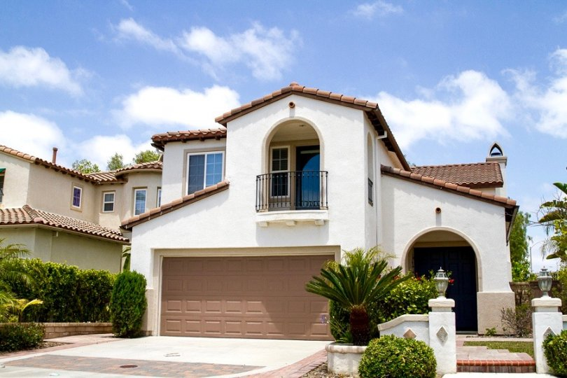 Stunning home with two car garage and high ceiling rooms is located in peaceful Bordeaux Neighborhood in San Diego California