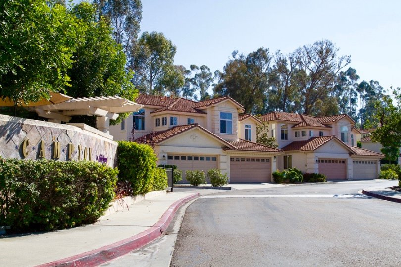 A view of the houses residing in peaceful neighborhood of Campton in San Diego California