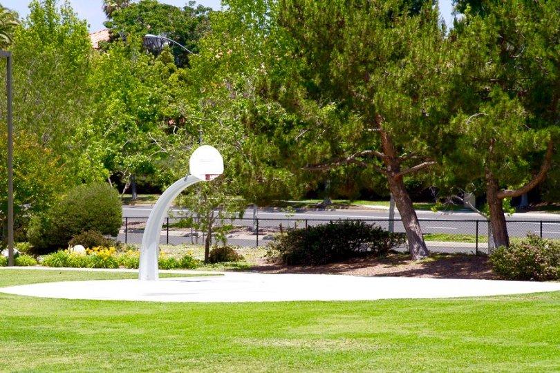 Basketball court in community Park in Cantamar San Diego