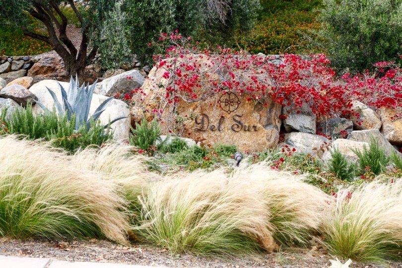 Del Sur Community Sign in San Diego California