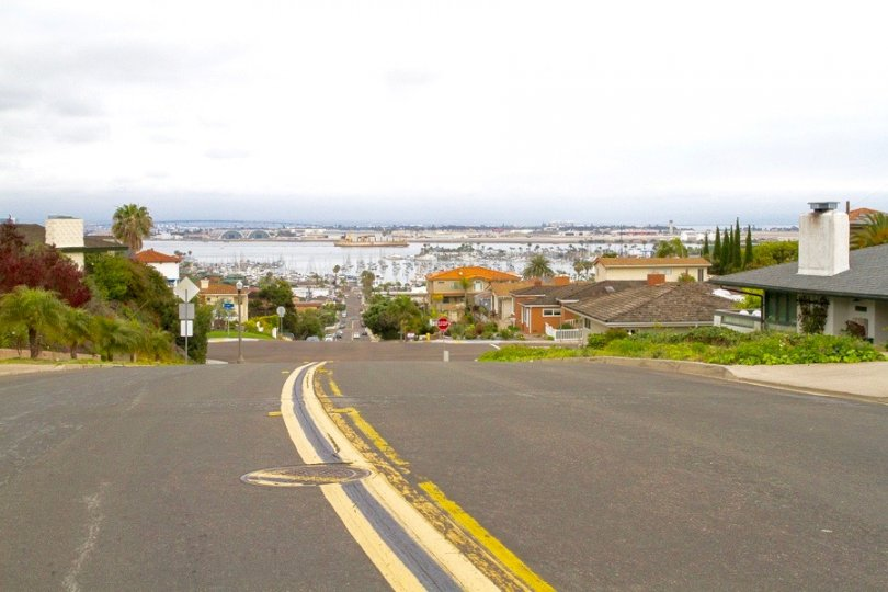 Homes in Fleetridge Neighborhood enjoy fair views of  the Sand Diego Bay