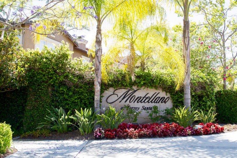 Montellano Community Sign in San Diego California