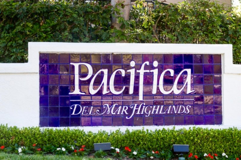 Pacifica Community Sign of Del Mar Highlands