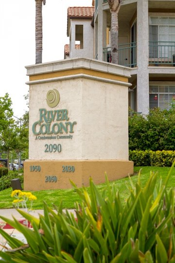 River Colony Community Sign in San Diego California