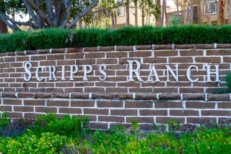 Scripps Ranch sign in San Diego California
