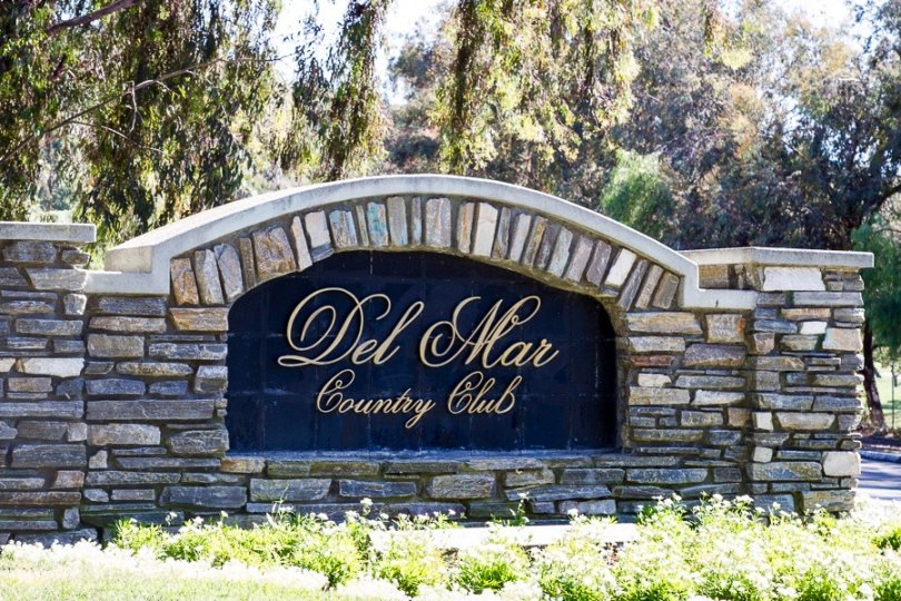 This is Del Mar Country Club Sign in Senterra Neighborhood