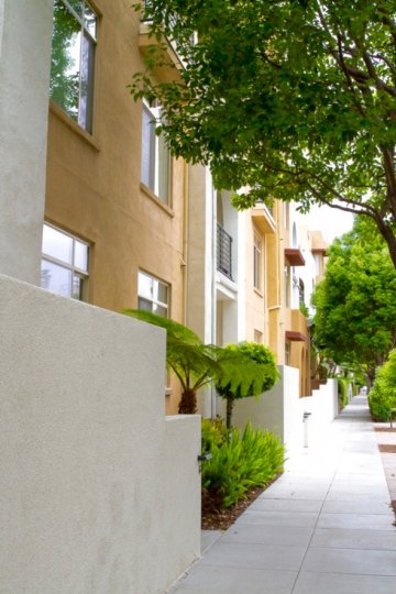 View of the Apartments street in Lido California