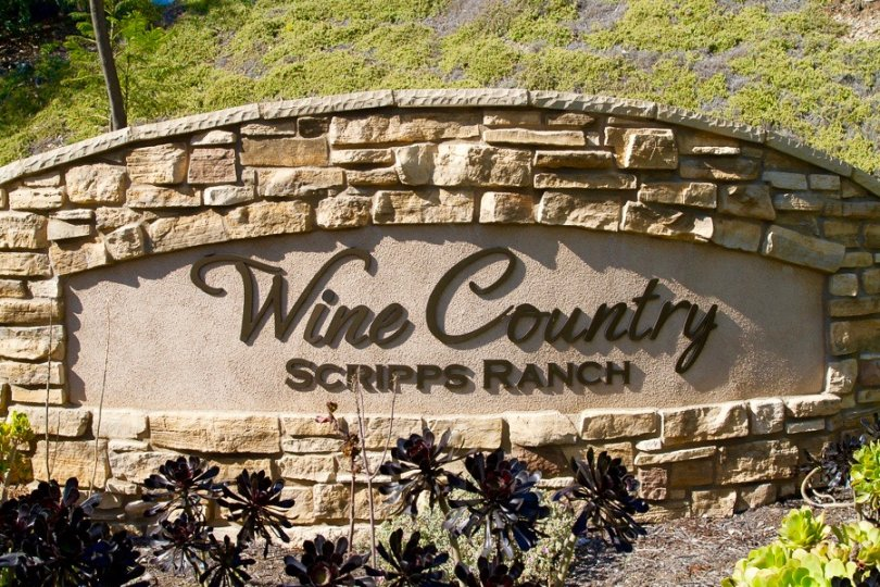 Wine Country Scripps Ranch Sign in San Diego California