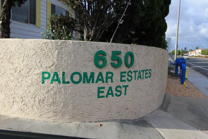 Palomar Estates Roadside Marquee
