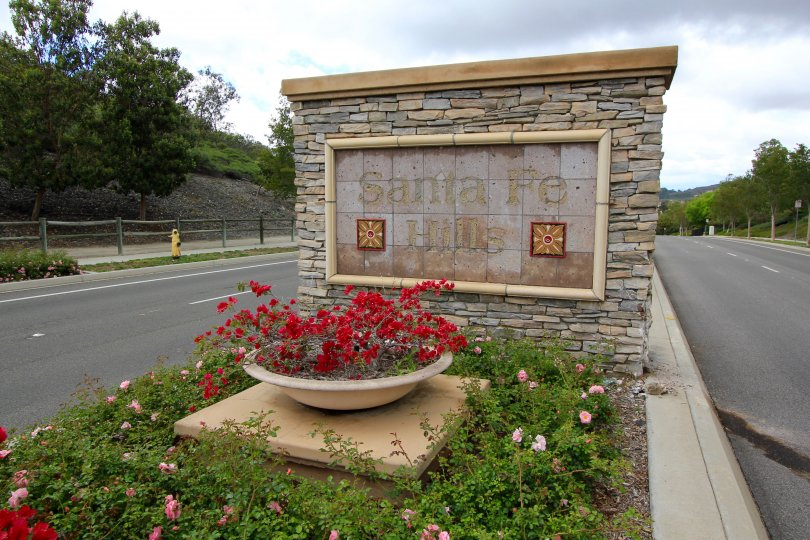 Santa Fe Hills Sign in San Marcos California