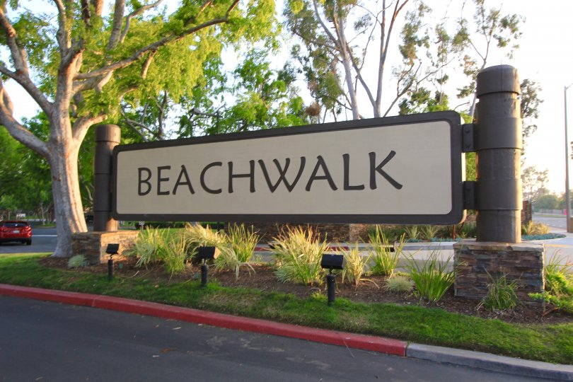 Beachwalk community marquee located in Huntington Beach