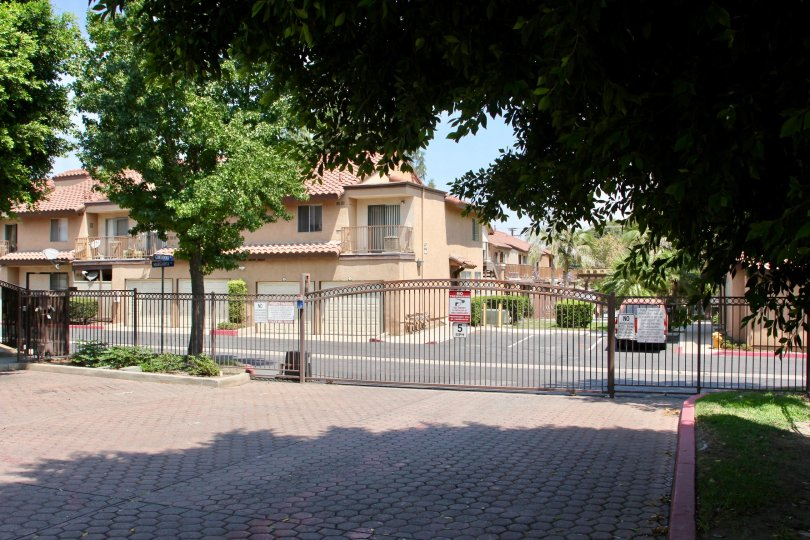 Gated entrance of Contadora community of Corona, CA.