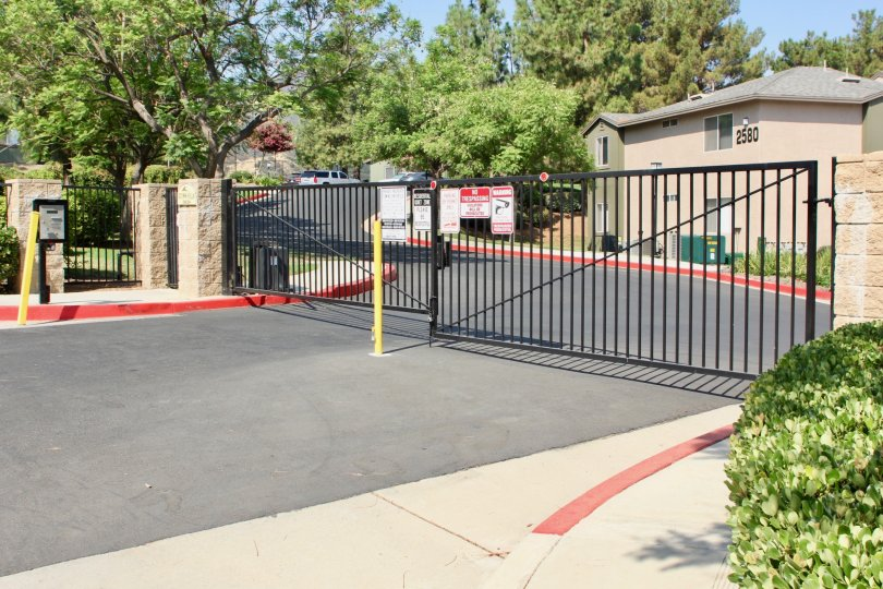 Gated community in Corona California at Crown Villas