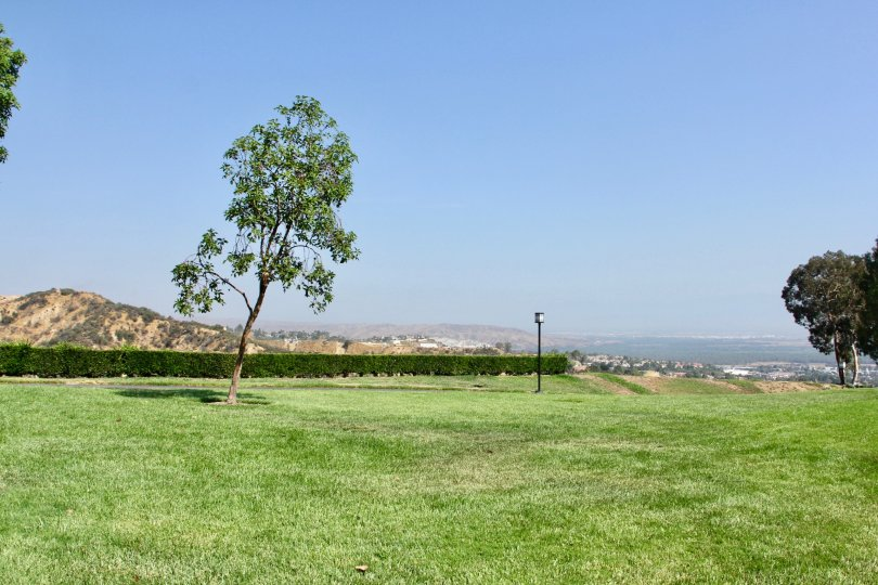 Crown Villas corona California with spacious meadow space with clear sky on top looks beautiful