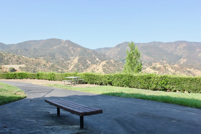 A park with mountain view in sunny day in Crown Villas community